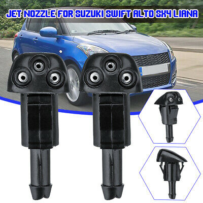 2X Windshield Washer Wiper Water Jet Nozzle Inlet Push For Suzuki Swift Alto SX4