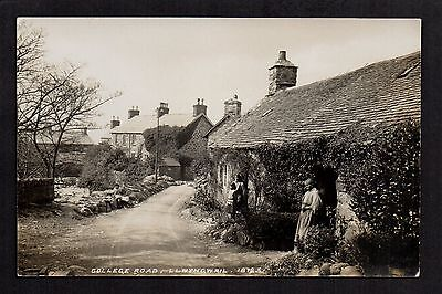 Llwyngwril - College Road - real photographic postcard by George & Son