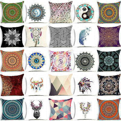 Hi Mandala Throw Pillow Case Polyester Pillowcase Sofa Cushion Cover Home Decor