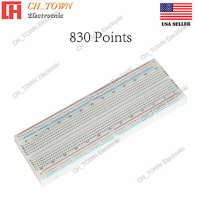 830 Tie Point Solderless PCB BreadBoard MB-102 MB102 For Arduino Test DIY USA