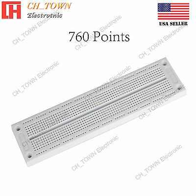 760 Points Solderless PCB SYB-130 BreadBoard For Arduino Test DIY Experiment USA