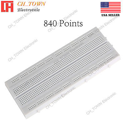 840 Tie Points Solderless PCB SYB-130 3M Project BreadBoard For Arduino Diy USA