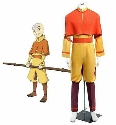 NEW Custom-made Avatar The Last Airbender Aang Cosplay Costume#G