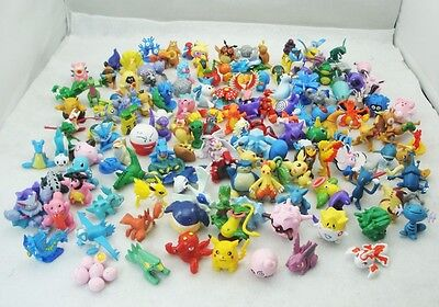 Random 24pcs/set Lots POKEMON Pocket Monsters Pikachu Toys Minifigure Doll Gift
