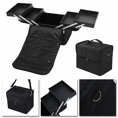 Professional Make Up Case Vanity Cosmetic Beauty Box Jewellery Nail Storage UK