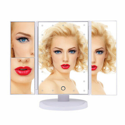 Led Lighted Makeup Vanity Mirror USB Charging with 2X/3X Magnifying Desk Mirror