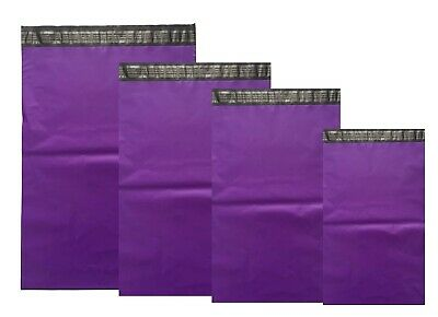Purple Mailing Bags COLOR Plastic Mail Post Postage Polythene Strong Seal