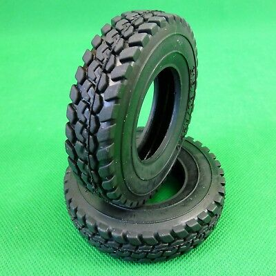 Wide tyres tires for Tamiya Hercules 1:14 RC Prime Mover Tractor Trailer Truck