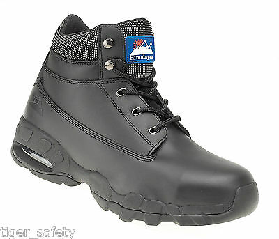 Himalayan 4040 SBP SRA Black Leather Air Bubble Steel Toe Cap Safety Boots PPE