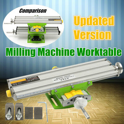 Compound Worktable Cross Slide Bench Drilling Milling Vise Working Table 2 Axis