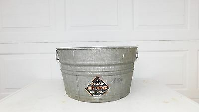 Galvanized Tub Wash Tub Belknap Bucket Metal Handle Galvanized Metal Mop Bucket