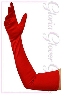 Heavy Quality Beautiful Satin Opera Shoulder Length Gloves in 22 Colors