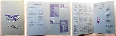 Hubert Horatio Humphrey Vice President under Lyndon Johnson signed booklet