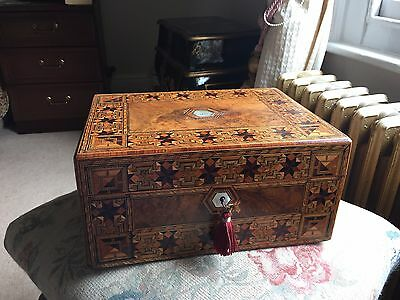 Victorian Jewellery Box, fully restored. 1876 Originally made for M.G.Terry