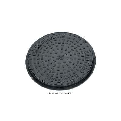 Clark Drain Driveway CD452 450mm Circular Round Manhole Cover and Frame