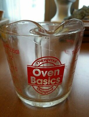 OVEN BASICS Glass 1 CUP MEASURING CUP ANCHOR HOCKING