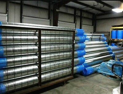 Galvanised Steel Spiral Ducting Ductwork 3.0m Hydroponics Ventilation Extractor