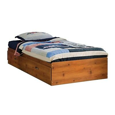 Logik Twin Mates Bed (39'') with 2 Drawers, Sunny Pine - 3342213