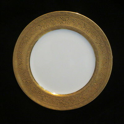 """Mintons England Porcelain Wide Gold Band Plate (9"""")"""