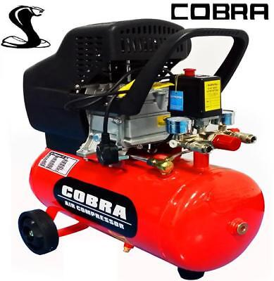 New Cobra Air Tools 24L Liter Air Compressor 9.6Cfm 2.5Hp 115Psi Powerful 8 Bar