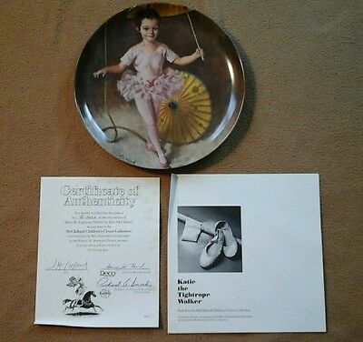 Katie The Tightrope Walker MCCLELLAND CHILDREN'S CIRCUS Reco Knowles Plate 1982