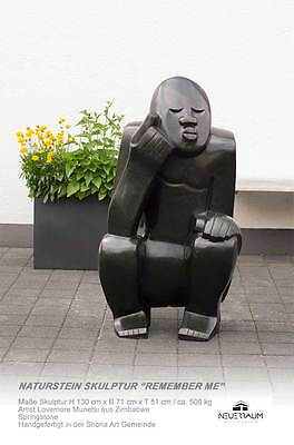 "Enorme Piedra Natural Escultura ""Remember Me"" Zimbabwe.höhe 130cm ≈ 500KG"