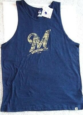 c8bf28a1ec3c2 Men s Majestic Milwaukee Brewers Tank Top ~ MLB Size (L) ~ NEW WITH TAG