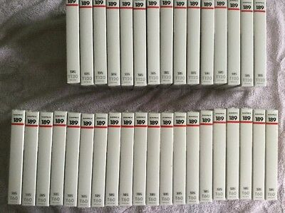Lot of 35 NEW SEALED Blank VHS Tapes - Ampex T60 and Ampex T120