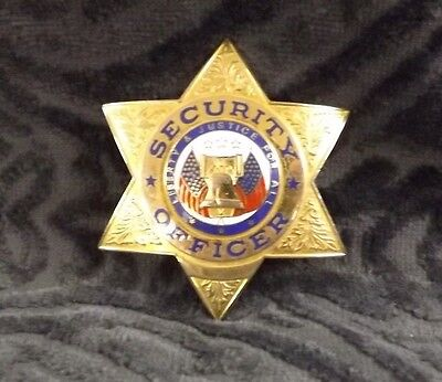 Security Officer Badge (Liberty & Justice For All)