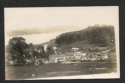 Llanstephan Village and Castle - real photographic postcard