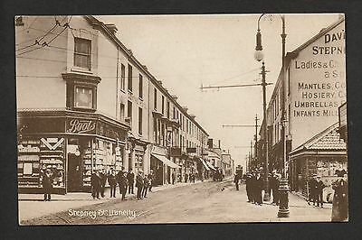 Llanelly - Stepney Street -  printed postcard