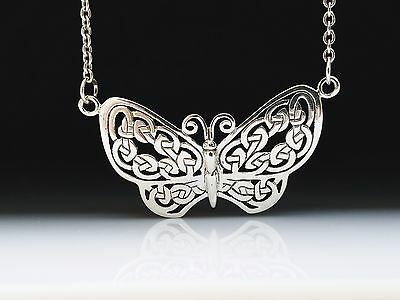Celtic Knotwork Butterfly Sterling Silver Necklace by Peter Stone fine jewelry