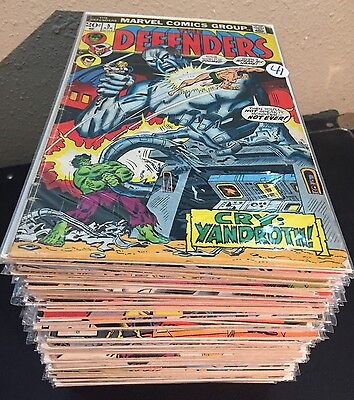 DEFENDERS Marvel Comics LOT of 80 Issues ~ from VG to NM #'s in details
