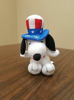 Snoopy Metlife plush with snoopy In A Red White And Blue Top Hat And Red Bow Tie
