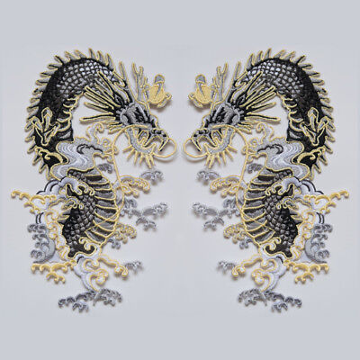 Dragon DIY Patch Embroidered Sew On Iron On Badge Dress Fabric Applique Craft