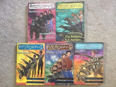 Animorphs Book Lot Of 5 Kids Chapter Books - Applegate