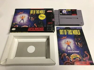 OUT OF THIS WORLD (Nintendo SNES) Complete CIB