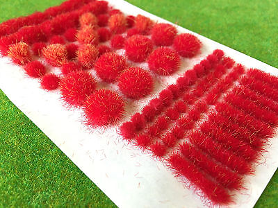 Fire Red BIG True Tufts mixed -Model Scenery Static Grass Natural Railway Wild