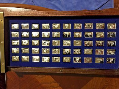 """Franklin Mint """"The Great Sailing Ships of History"""" 50 Silver Mini Ship Ingots"""