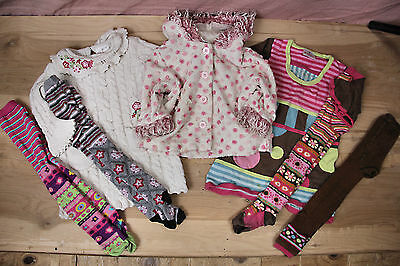 EUC HANNA ANDERSSON Toddler Sweater Dresses Tights Socks Jacket Set Size 80 90