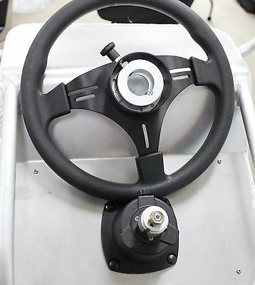 Boat Steering Wheel Kit With Removable Hub for Security 310mm Boat Wheel Hub Kit