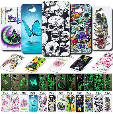 Fluorescence Rubber Night Lights Silicone Soft Skin Cover TPU Case For Huawei