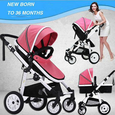 Newborn baby Toddler Travel System Pram /Stroller Reversible Pushchair Buggy