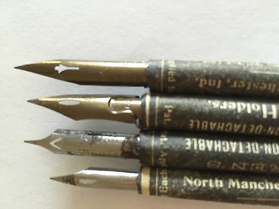 Warren Penny Pens - Rare Vintage 4-Pack. Esterbrook Calligraphy Nibs
