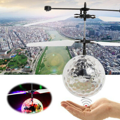 RC Flying Heli Ball Drone Led Flashing Light Krystal Aircraft Helicopter Toy Fun