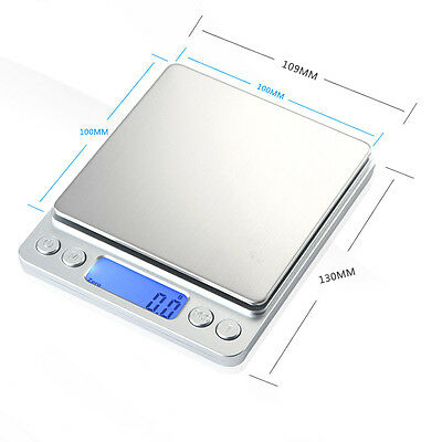 Jewellery Precision Digital Scales Diamond Kitchen Weighing Scale 500g 0.01
