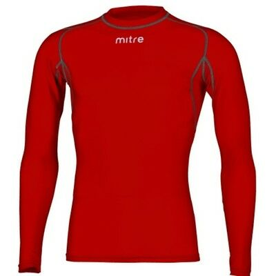 Mitre YOUTH Long Sleeve Compression Top- Red