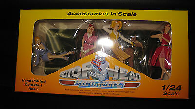 Motorhead 1/24 Vintage Vixens   Female Figurines  For Diorama  And Display #861