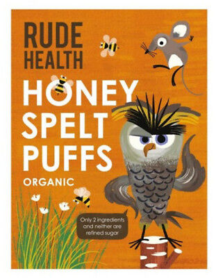 NEW Rude Health Honey Spelt Puffs (Organic) ~ 175g