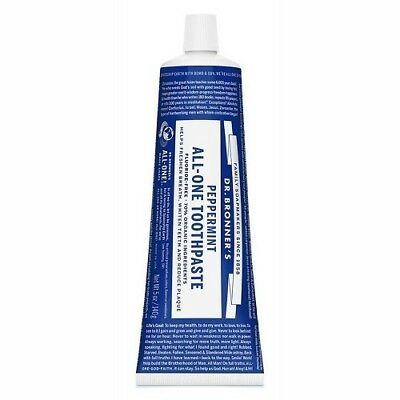 NEW Dr. Bronner's Toothpaste Peppermint ~ 140g